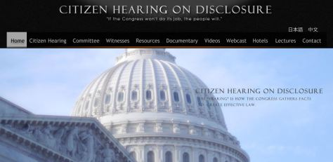 Citizen Hearing on Disclosure