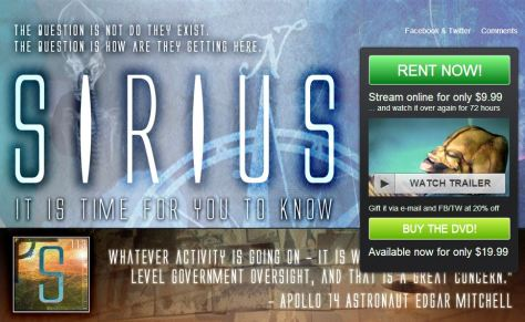 Link to Watch and Buy the Sirius Disclosure Movie